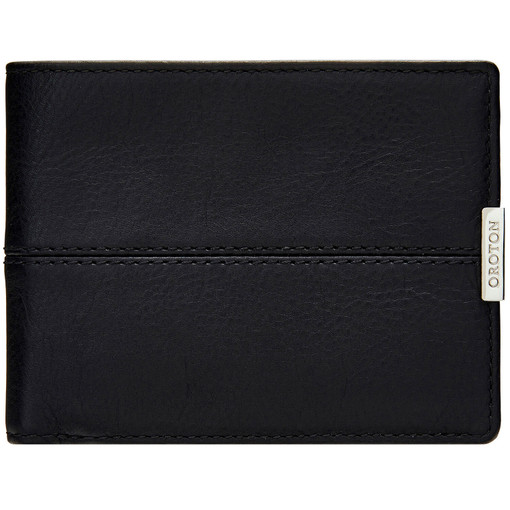 Oroton Austere 12 Credit Card Wallet in Black and Black Calf Leather for male