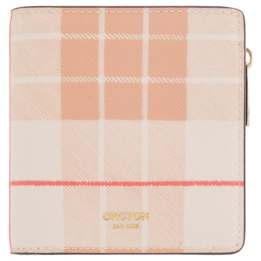 Oroton Harriet Print Mini Wallet in Caramel and Print Saffiano PVC for female