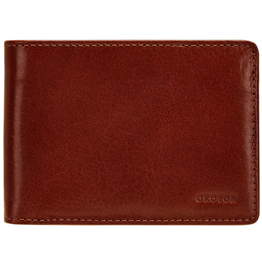 Oroton Katoomba 4 Credit Card Mini Wallet in Whiskey and Vegetable Tanned Leather for male