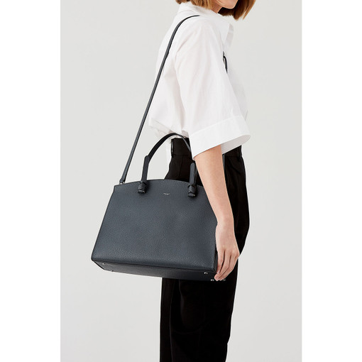 Oroton Atlas Day Bag in Charcoal and Pebble Leather for female