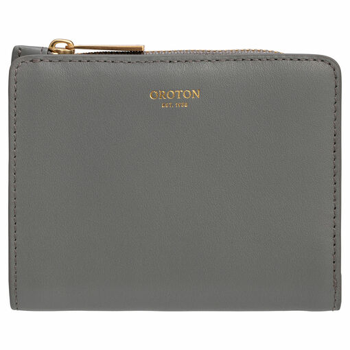 Oroton Taya Mini Fold Wallet in Dark Quartz and Smooth Leather for female
