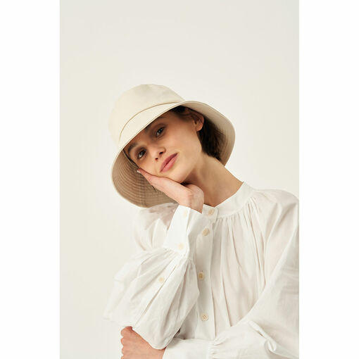 Oroton Frida Twill Bucket Hat in Wheat and 100% Cotton for female