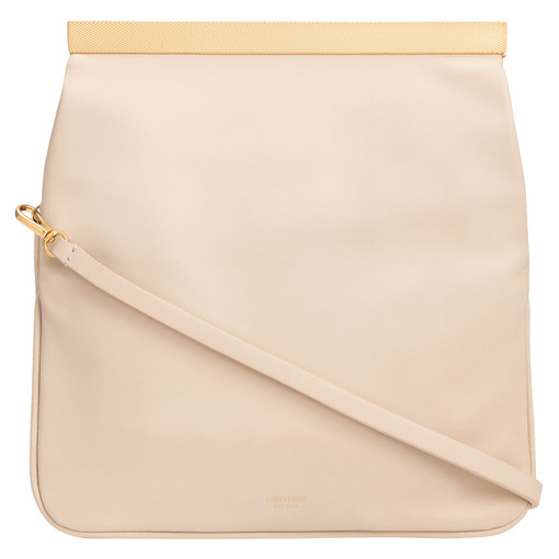 Oroton Amelie Fold Over Clutch in Cashew and Nappa Leather for female