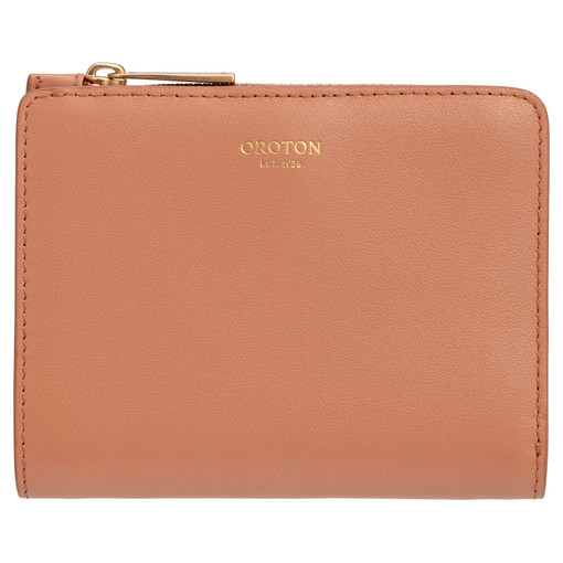 Oroton Taya Mini Fold Wallet in Treacle and Smooth Leather for female