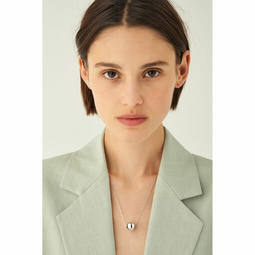 Oroton Blair Necklace in Silver and Brass Base Metal With Precious Metal Plating for female