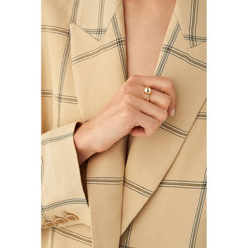Oroton Blair Ring in Gold and Brass Base Metal With Precious Metal Plating for female