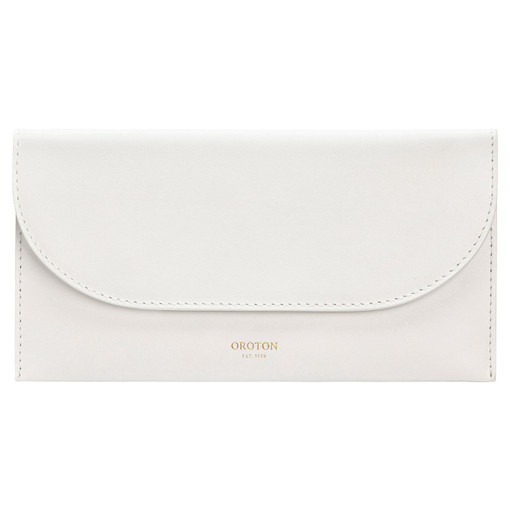 Oroton Etta Medium Continental Wallet in Cream and Smooth Leather for female