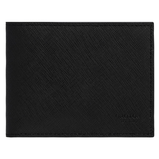 Oroton Eton 4 Card Mini Wallet in Black and Saffiano/Smooth Leather for male