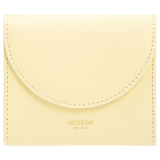Oroton Etta Small Continental Wallet in Lemon Curd and Smooth Leather for female