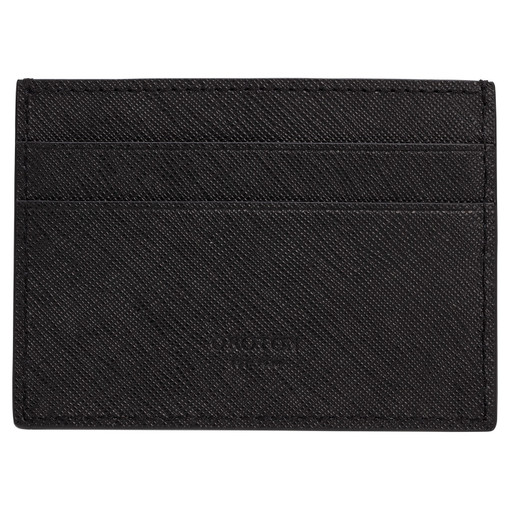 Oroton Eton Card Sleeve in Black and Saffiano/Smooth Leather for male