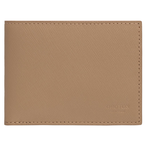 Oroton Eton 4 Card Mini Wallet in Khaki and Saffiano/Smooth Leather for male