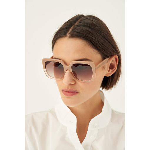 Oroton Cosette Sunglasses in Biscuit and Acetate for female