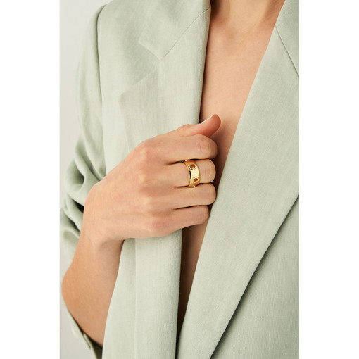 Oroton Amber Ring in Gold and Brass Base Metal With Precious Metal Plating for female