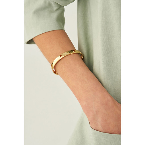 Oroton Amber Cuff in Gold and Brass Base Metal With Precious Metal Plating for female