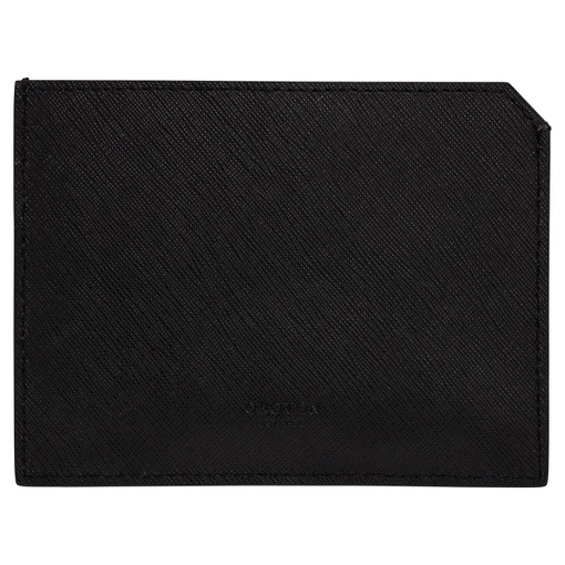 Oroton Eton 6 Card Sleeve in Black and Saffiano/Smooth Leather for male