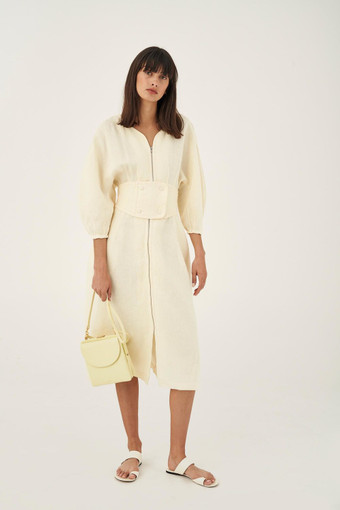 Oroton Etta Mini Shoulder Bag in Lemon Curd and Smooth Leather for female