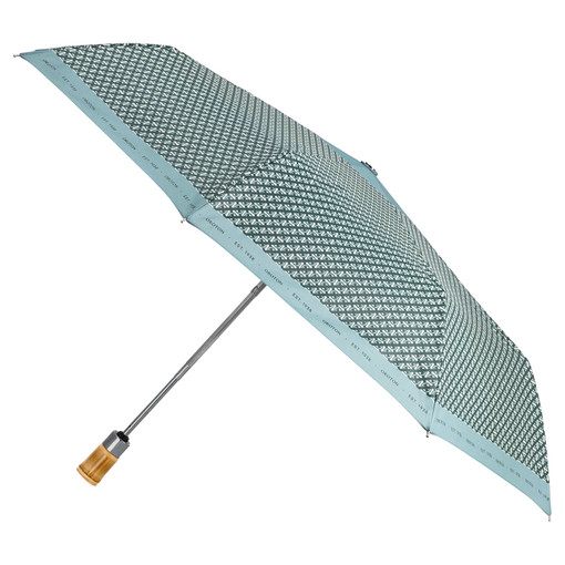 Oroton Bamboo Small Umbrella in Ivy and Pongee Fabric (Water Resistant) for female