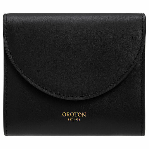 Oroton Etta Small Continental Wallet in Black and Smooth Leather for female
