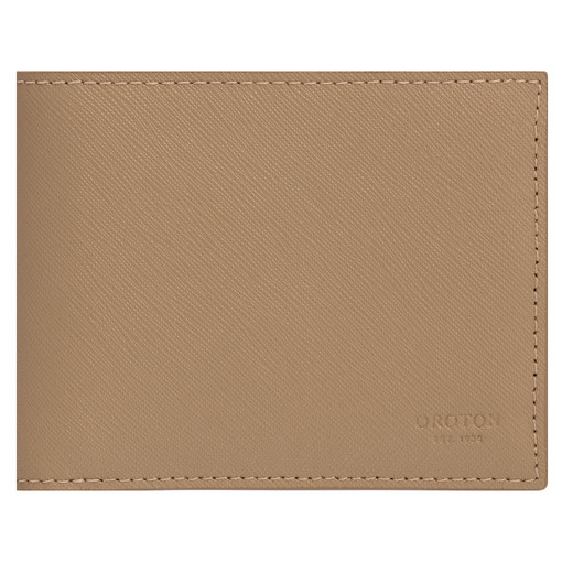 Oroton Eton 8 Card Wallet in Khaki and Saffiano/Smooth Leather for male