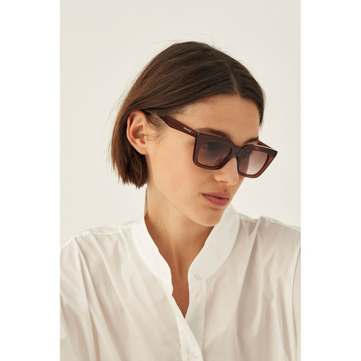 Oroton Astrid Sunglasses in Coco Crystal and Acetate for female