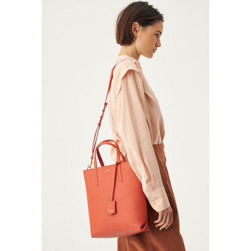 Oroton Duo Small Zip Tote in Faded Red and Pebble Leather for female