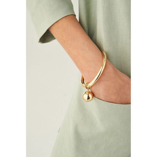 Oroton Blair Bangle in Gold and Brass Base Metal With Precious Metal Plating for female