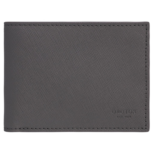 Oroton Eton 4 Card Mini Wallet in Storm and Saffiano/Smooth Leather for male