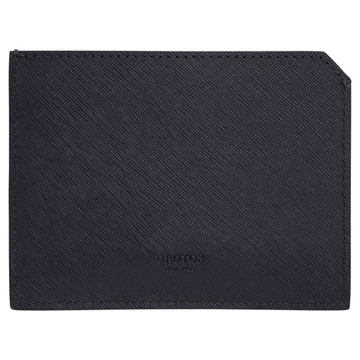 Oroton Eton 6 Card Sleeve in Ink and Saffiano/Smooth Leather for male