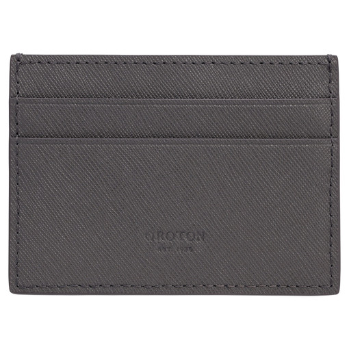 Oroton Eton Card Sleeve in Storm and Saffiano/Smooth Leather for male