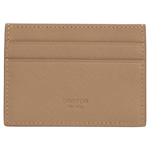 Oroton Eton Card Sleeve in Khaki and Saffiano/Smooth Leather for male