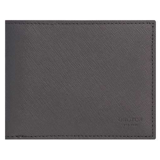 Oroton Eton 8 Card Wallet in Storm and Saffiano/Smooth Leather for male
