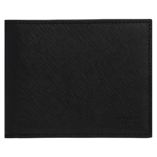 Oroton Eton 8 Card Wallet in Black and Saffiano/Smooth Leather for male