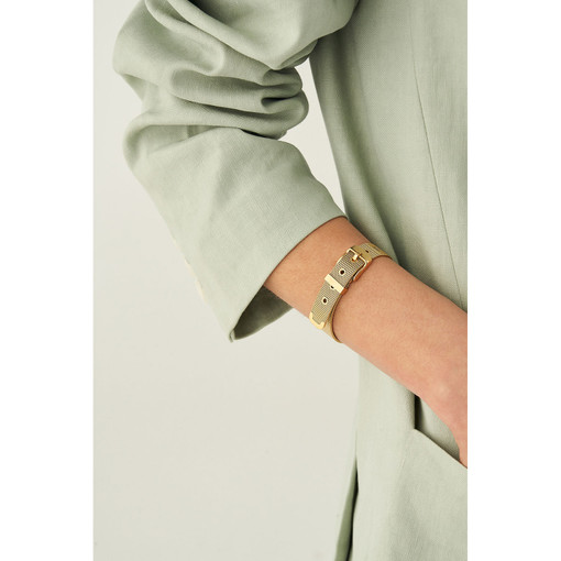 Oroton Freya Thin Bracelet in Gold and Stainless Chain With Ion Plating for female