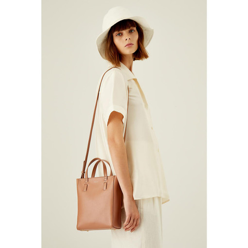 Oroton Venture Micro Tote in Almond and Smooth Leather for female