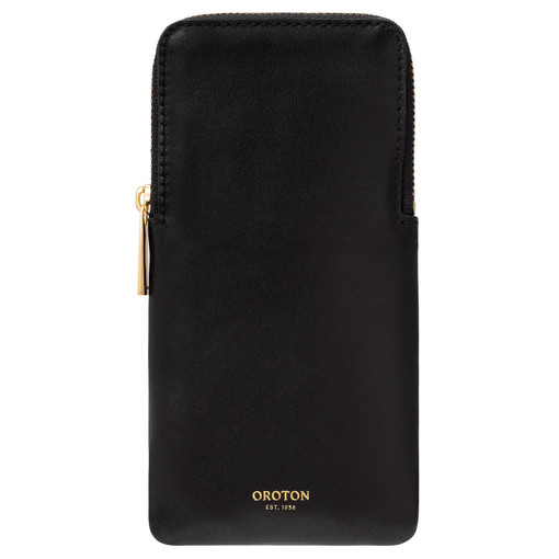 Oroton Lilia Sunglasses Case in Black and Smooth Leather for female