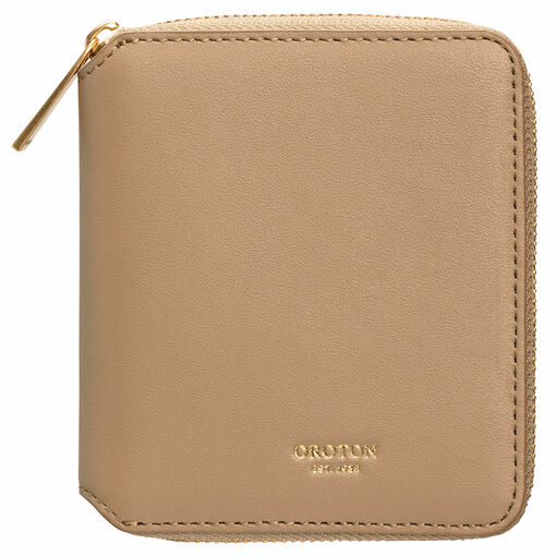 Oroton Jerome Small 7 Credit Card Zip Wallet in Khaki and Smooth Leather for female