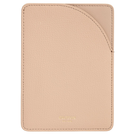 Oroton Globe Minimal Passport Sleeve in Latte and Cross Grain Leather for female