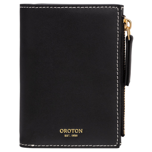 Oroton Klara Mini 10 Credit Card Zip Wallet in Black and Smooth Leather for female