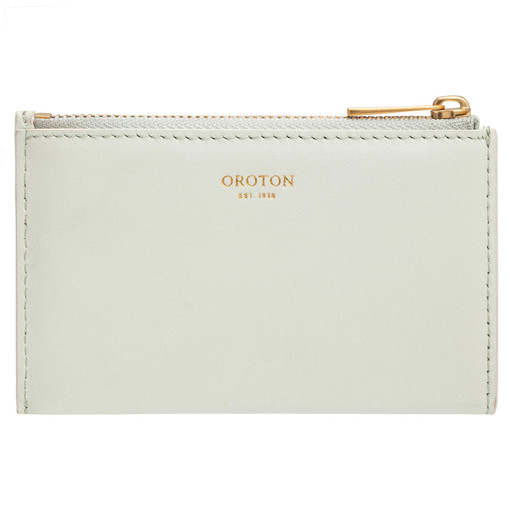 Oroton Lilia 4 Credit Card Zip Pouch in Spearmint and Smooth Leather for female