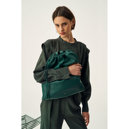 Oroton Lilia Tote in Loden Green and Smooth Leather for female