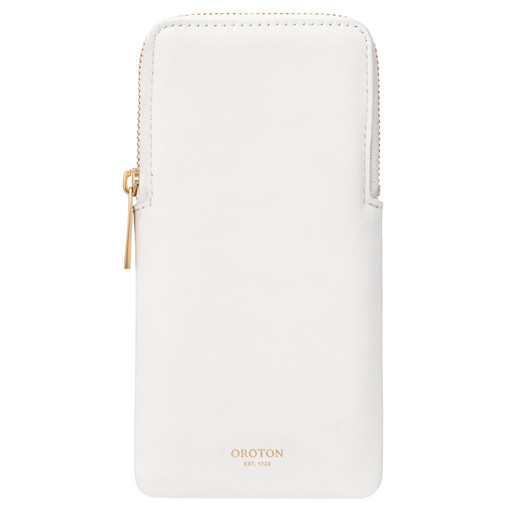 Oroton Lilia Sunglasses Case in Pure White and Smooth Leather for female