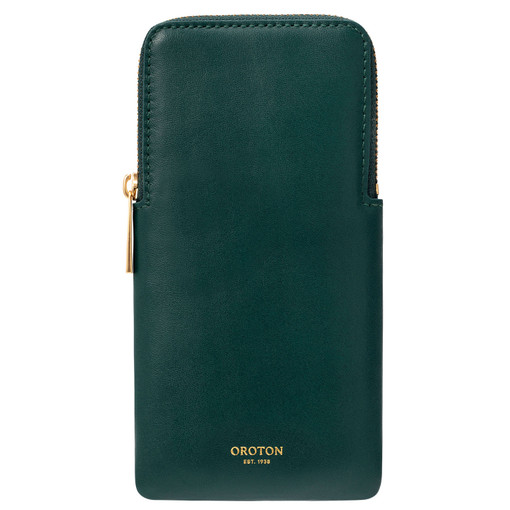 Oroton Lilia Sunglasses Case in Loden Green and Smooth Leather for female