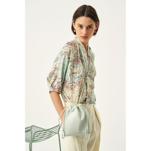 Oroton Lilia Crossbody in Spearmint and Smooth Leather for female