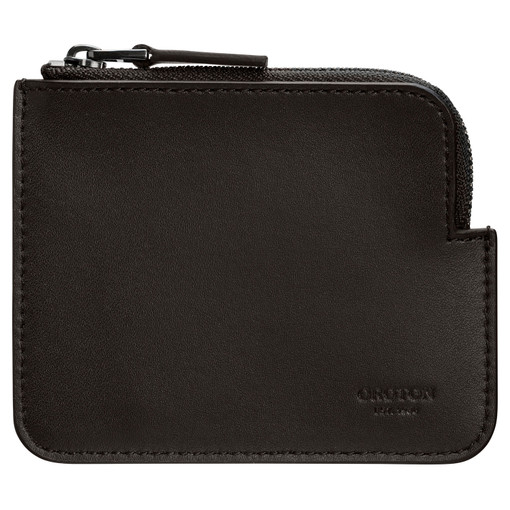 Oroton Ruben Zip Pouch in Hickory and Vachetta Leather for male