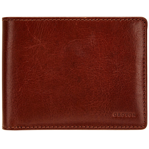 Oroton Katoomba 8 Credit Card Wallet in Whiskey and Vegetable Tanned Leather for male