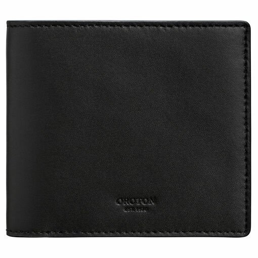 Oroton Ruben 8 Card Bifold in Hickory and Vachetta Leather for male
