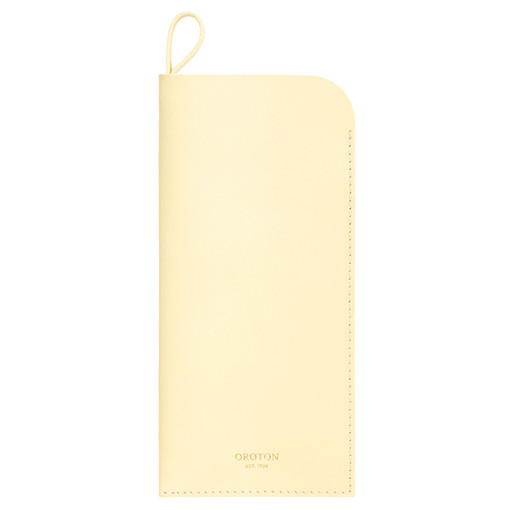 Oroton Olivia Sunglasses Case in Lemon Curd and Smooth Leather for female