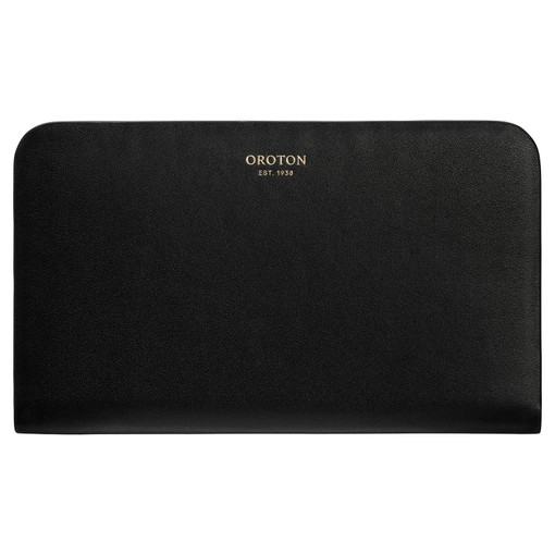 Oroton Minna Medium Seamless Wallet in Black and Smooth Leather for female