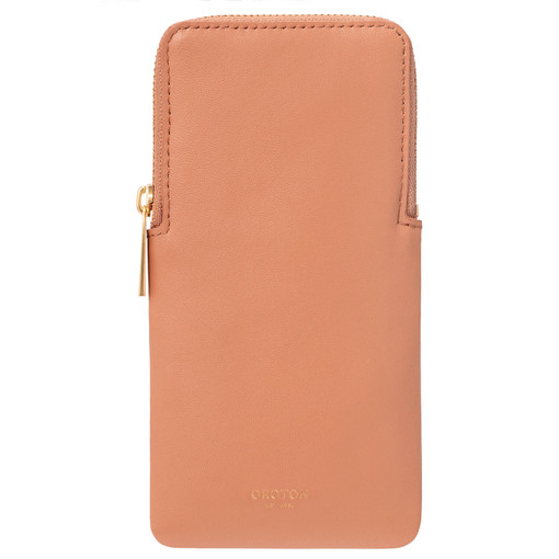 Oroton Lilia Sunglasses Case in Treacle and Smooth Leather for female