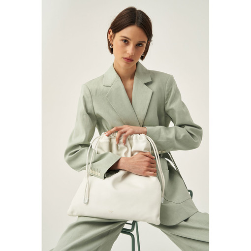 Oroton Lilia Tote in Pure White and Smooth Leather for female
